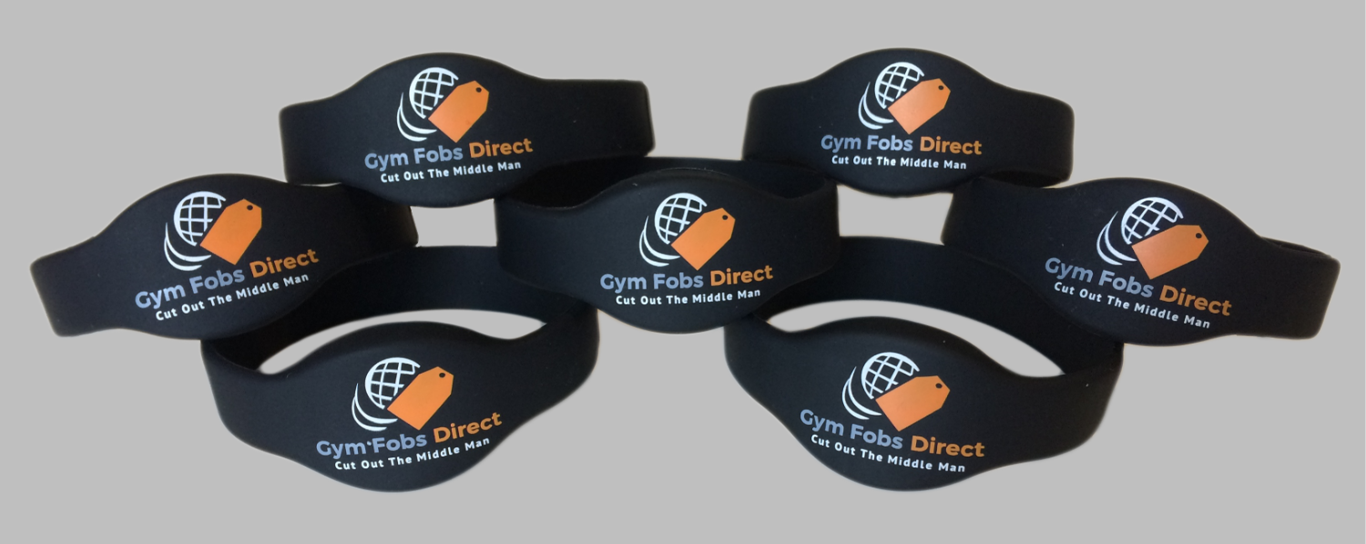 silicone RFID wristband with colour custom printed logo