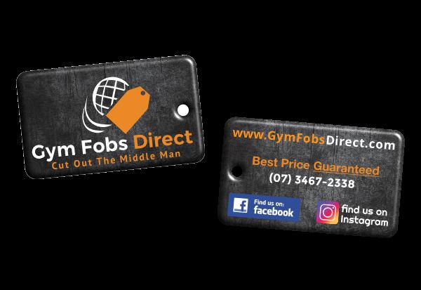 black custom printed epoxy RFID fob with gym fobs direct logo